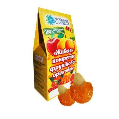 """Живые конфеты оптом """"Желтая черешня-Миндаль"""""""